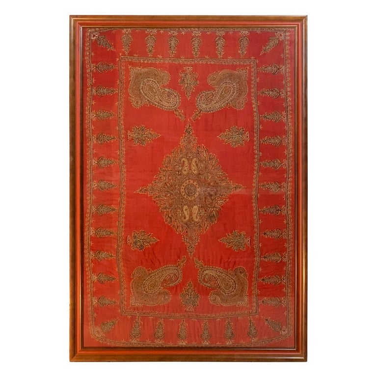 Early 20th Century Hand Embroidery Suzani Wall Hanging For Sale