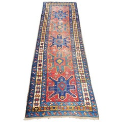 Early 20th Century Hand Knotted Caucasian Runner