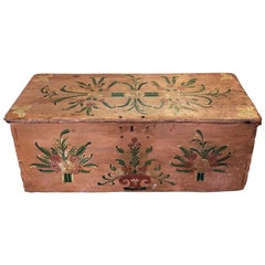 Early 20th Century Handcrafted and Painted Chest