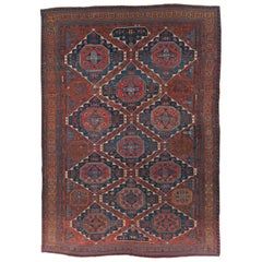 Early 20th Century Handmade Central Asian Flat-Weave Soumak Room Size Carpet