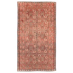 Early 20th Century Handmade Central Asian Tribal Gallery Accent Rug