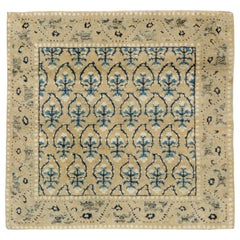 Early 20th Century Handmade Chinese Square Throw Rug