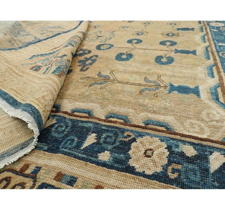 Early 20th Century Handmade East Turkestan Khotan Gallery Carpet, circa 1900 For Sale 3