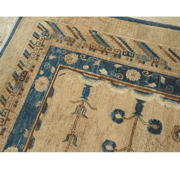 Early 20th Century Handmade East Turkestan Khotan Gallery Carpet, circa 1900 For Sale 1