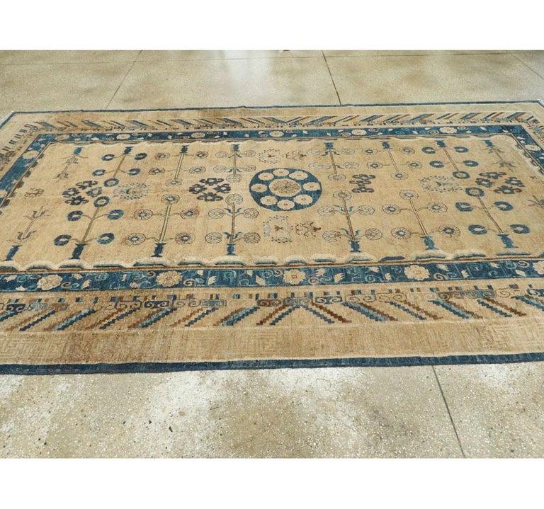 Early 20th Century Handmade East Turkestan Khotan Gallery Carpet, circa 1900 For Sale 2