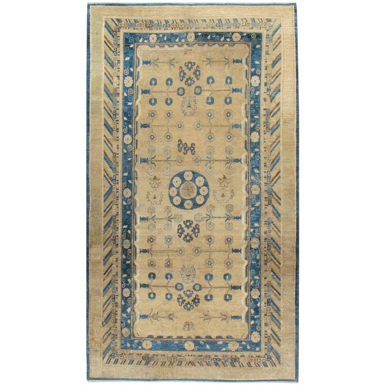Early 20th Century Handmade East Turkestan Khotan Gallery Carpet, circa 1900 For Sale