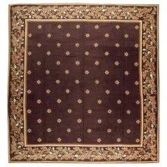 Early 20th Century Handmade French Needlepoint Large Oversize Carpet, circa 1920