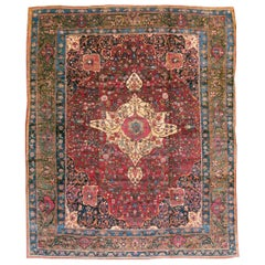 Early 20th Century Handmade Persian Bakhtiari Tribal Room Size Carpet