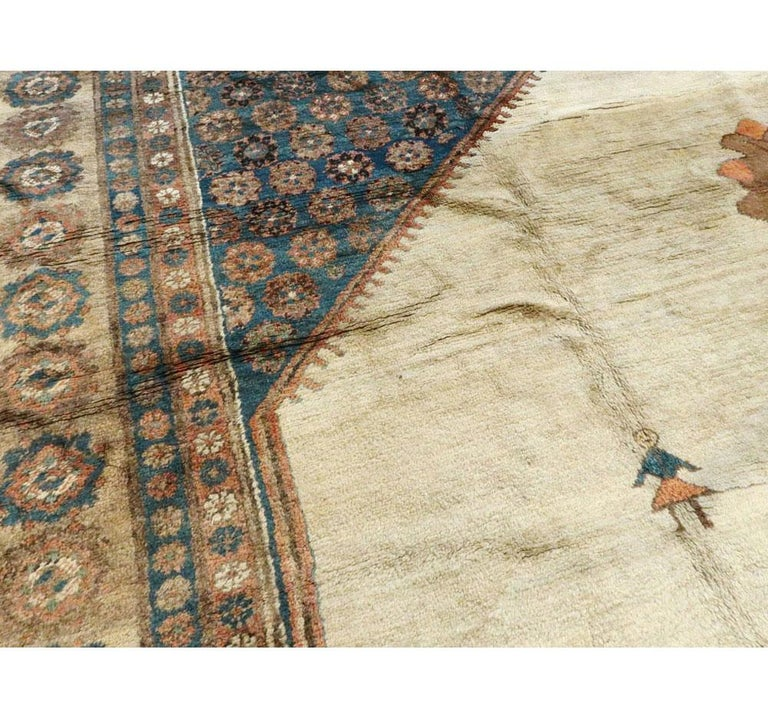 Early 20th Century Handmade Persian Bakshaish Large Room Size Carpet For Sale 1