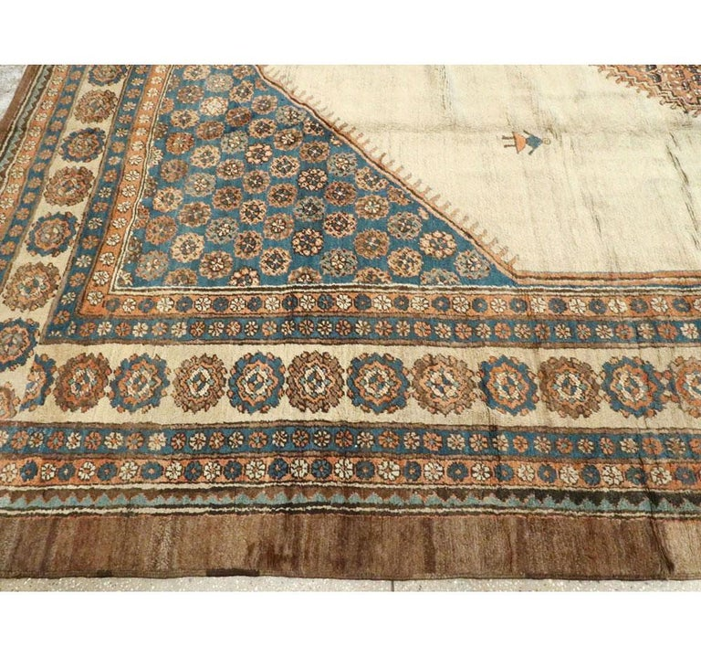 Early 20th Century Handmade Persian Bakshaish Large Room Size Carpet For Sale 3