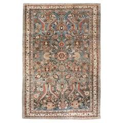 Early 20th Century Handmade Persian Bidjar Small Room Size Carpet