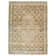 Early 20th Century Handmade Persian Lavar Kerman Room Size Carpet, circa 1920