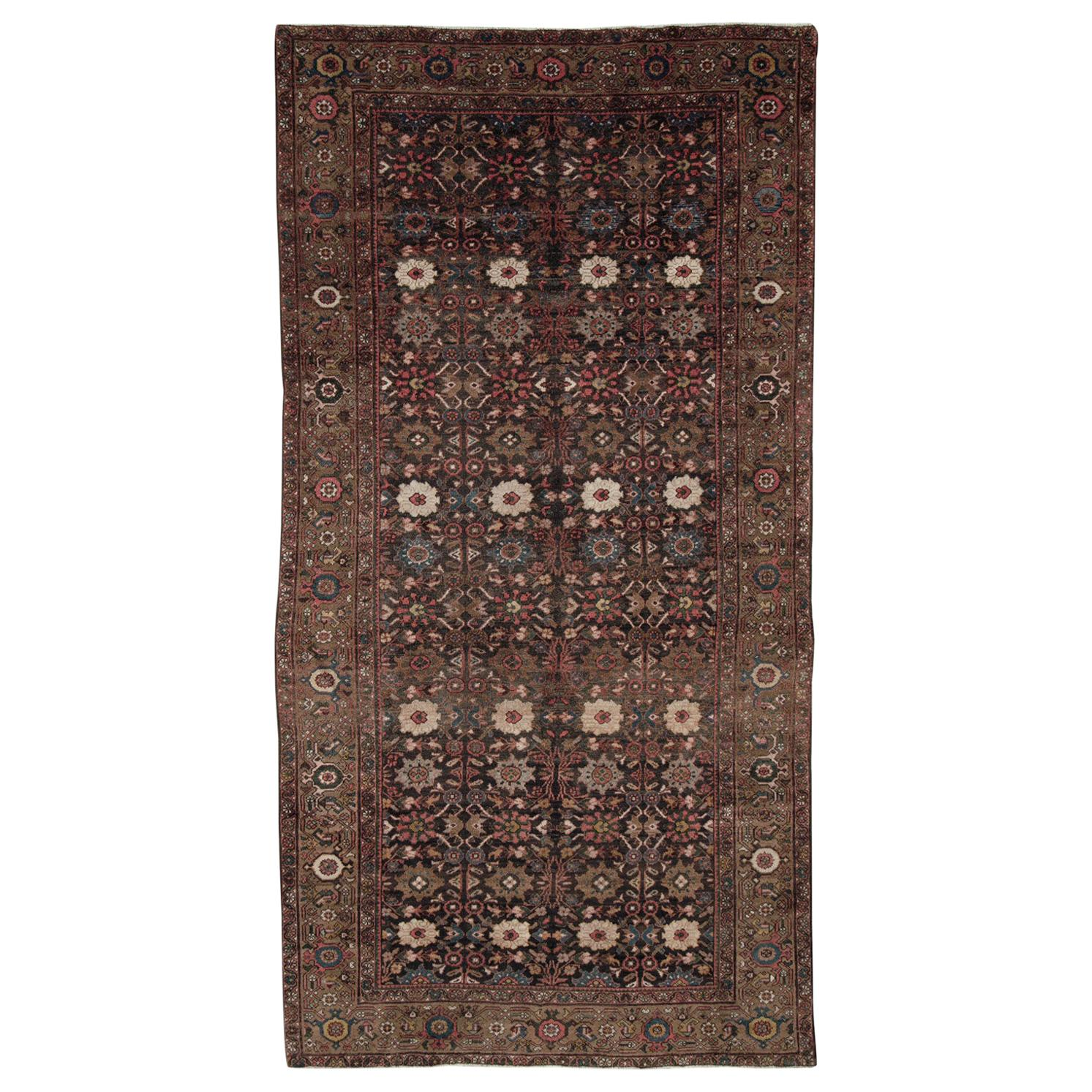 Early 20th Century Handmade Persian Mahal Gallery Accent Rug