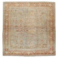 Early 20th Century Handmade Persian Mahal Square Room Size Carpet