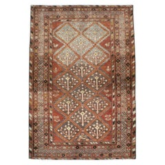 Early 20th Century Handmade Persian Malayer Accent Rug