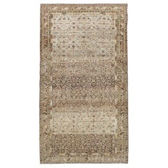 Early 20th Century Handmade Persian Malayer Gallery Accent Rug