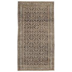 Early 20th Century Handmade Persian Malayer Gallery Rug