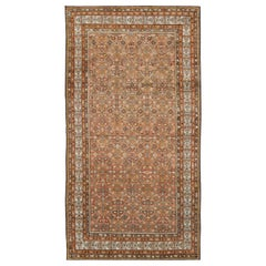 Early 20th Century Handmade Persian Malayer Rustic Gallery Rug
