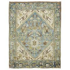 Early 20th Century Handmade Persian Malayer Throw Rug