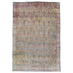 Early 20th Century Handmade Persian Room Size Rug Inspired by European Designs