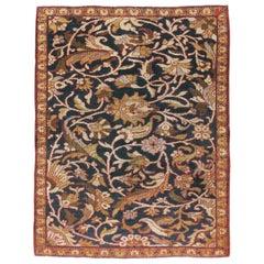 Early 20th Century Handmade Persian Sampler Mahal Throw Rug