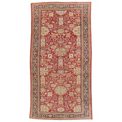 Early 20th Century Handmade Persian Sultanabad Long and Narrow Gallery Carpet