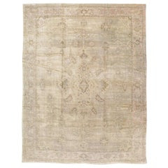 Early 20th Century Handmade Persian Sultanabad Room Size Carpet