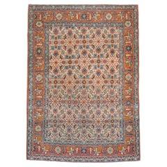Early 20th Century Handmade Persian Tabriz Accent Rug