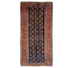 Early 20th Century Handmade Persian Tribal Gallery Accent Rug in Jewel Tones
