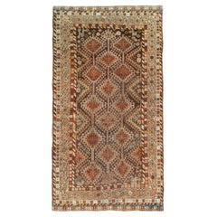 Early 20th Century Handmade Persian Tribal Gallery Rug