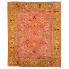 Early 20th Century Handmade Turkish Oushak Room Size Carpet