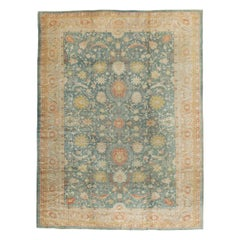 Early 20th Century Handmade Turkish Oushak Large Room Size Carpet