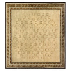 Early 20th Century Handwoven Antique Chinese Rug