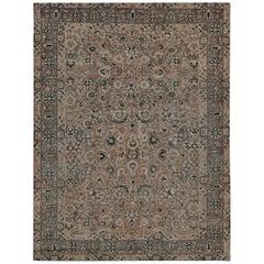 Early 20th Century Handwoven Wool Persian Tabriz Rug