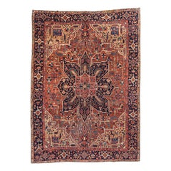 Early 20th Century Heriz Carpet