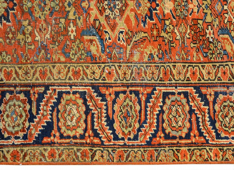 Wool Early 20th Century Heriz Rug For Sale
