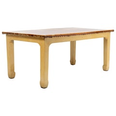 Early 20th Century Hide Covered Artisan Table