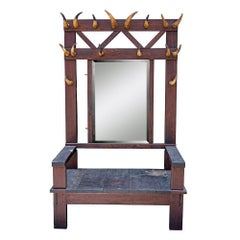 Early 20th Century Horned Throne Chair