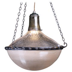 Early 20th Century Huge Holophane Blondel Stiletto Pendant Light