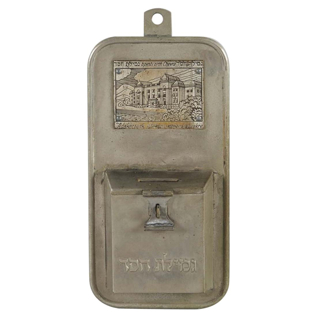 Early 20th Century Hungarian Brass Chariry Box