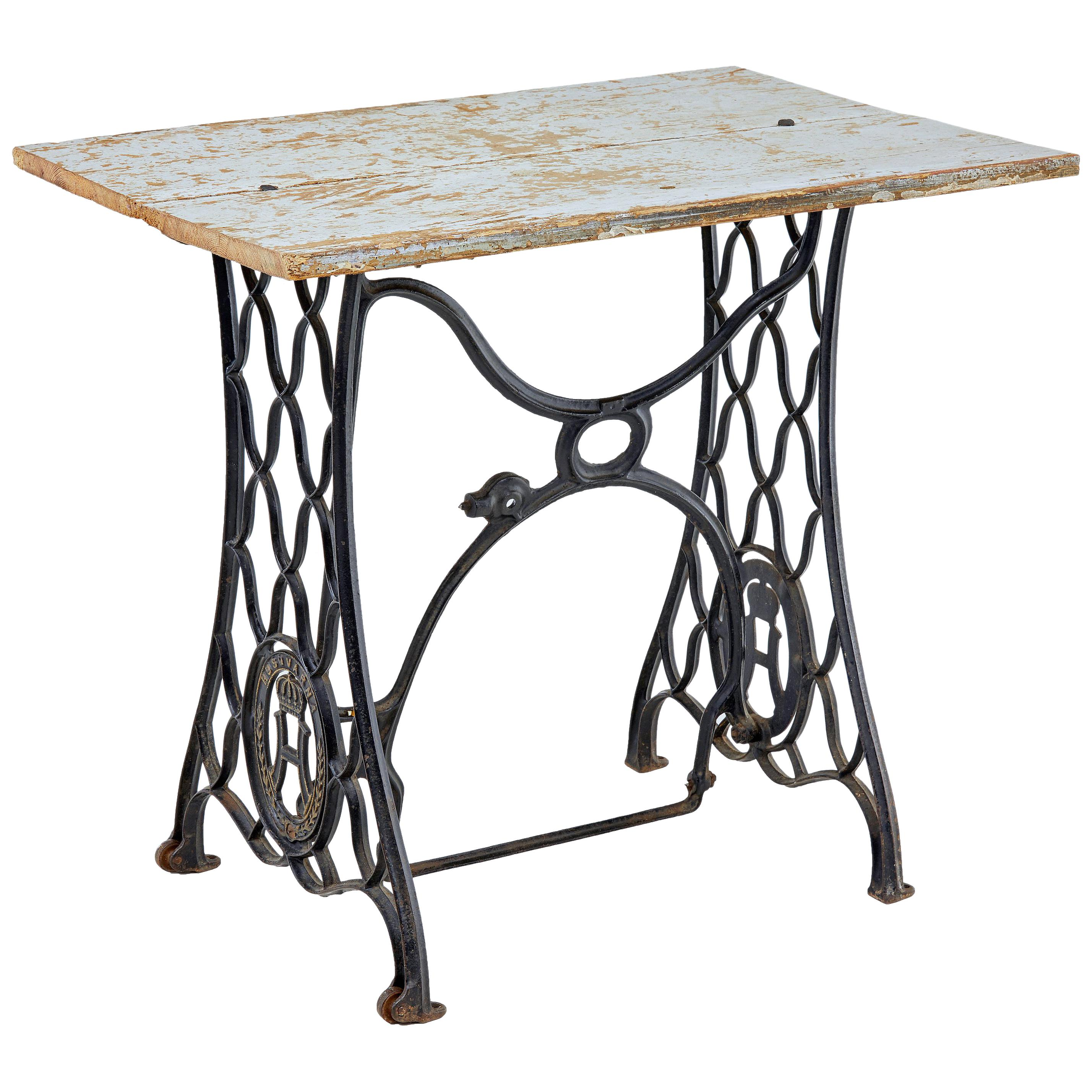 Early 20th Century Husqvarna Converted Occasional Table
