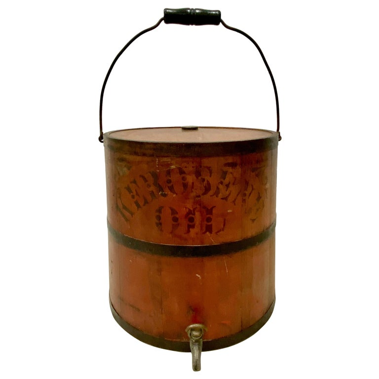 """Early 20th Century """"Impervious Safety Kerosene Can"""", circa 1915 For Sale"""