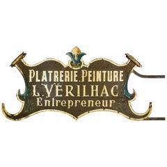 Early 20th Century Impressive Entrepreneurs Trade Sign