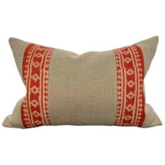 Early 20th Century Indian Block Printed Pillow