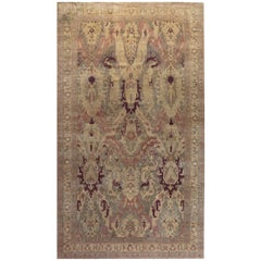Early 20th Century Indian Handmade Wool Carpet