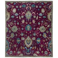 Early 20th Century Indian Handmade Wool Rug