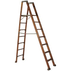Early 20th Century Industrial Folding Ladder