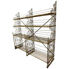 Early 20th Century Industrial French Iron Bakery Shelves