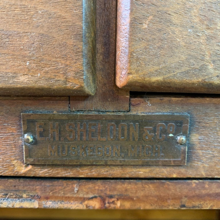 Early 20th Century Industrial Laboratory Workbench For Sale 6