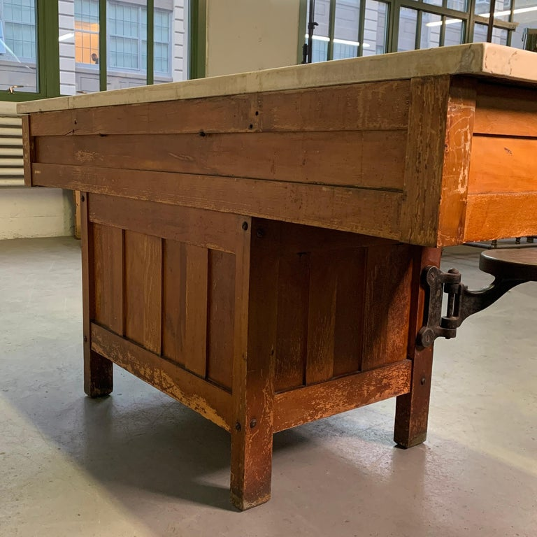 Early 20th Century Industrial Laboratory Workbench For Sale 7